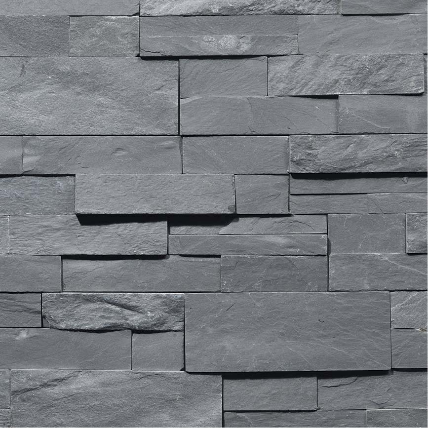 parement pierre naturelle grise indoor by capri. Black Bedroom Furniture Sets. Home Design Ideas