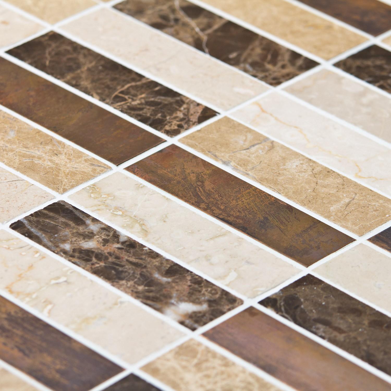mosa que marbre beige et marron indoor by capri. Black Bedroom Furniture Sets. Home Design Ideas