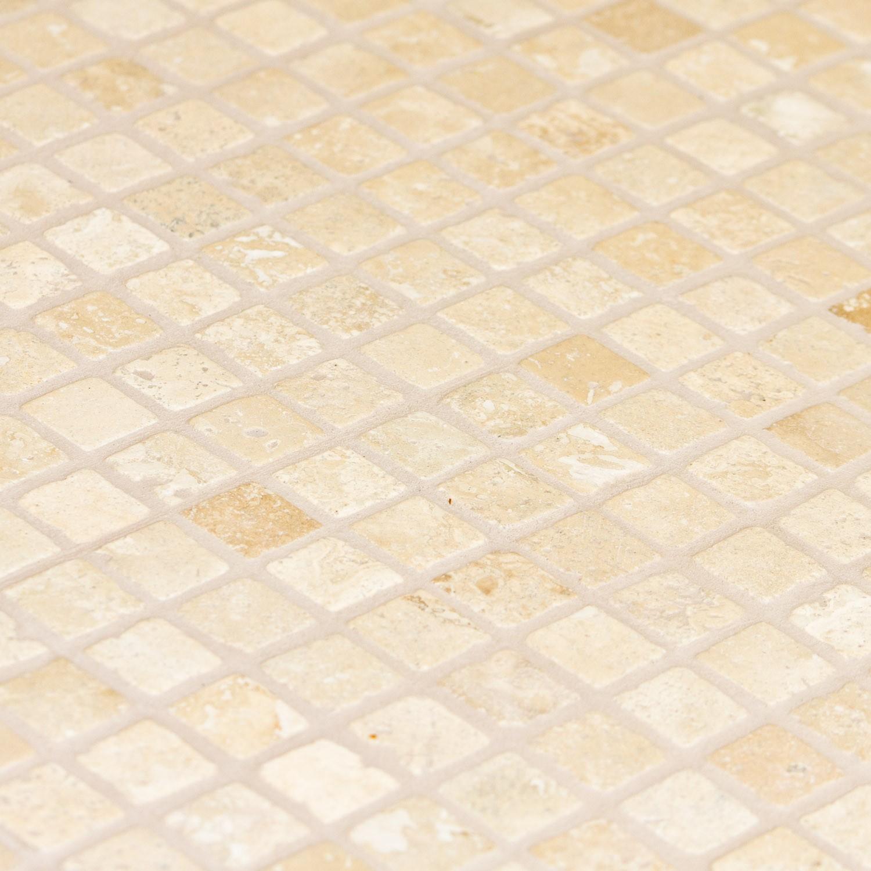 Travertin clair   mosaïque pierre   mosaïque   indoor by capri