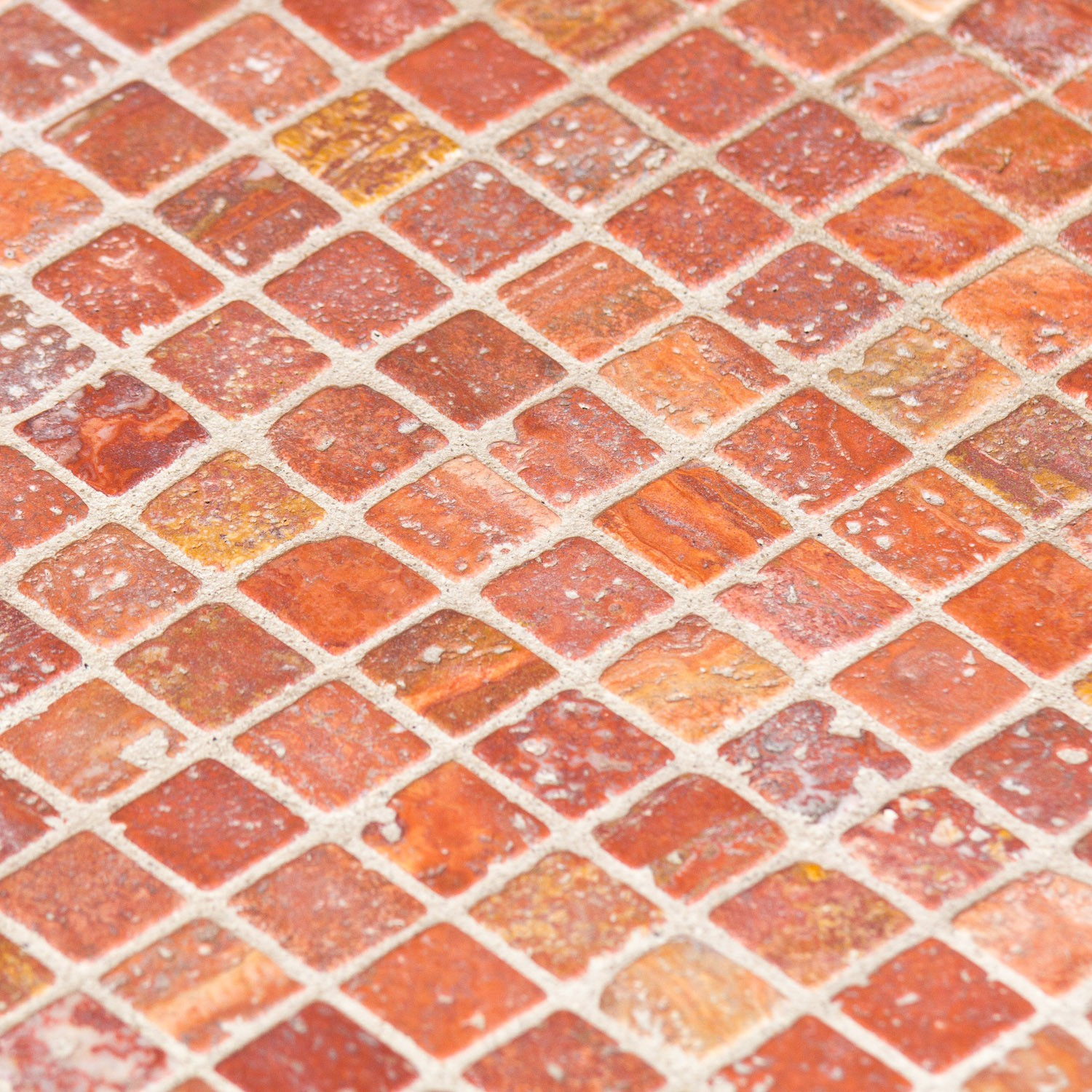 Mosa que pierre travertin rouge indoor by capri for Carrelage en mosaique