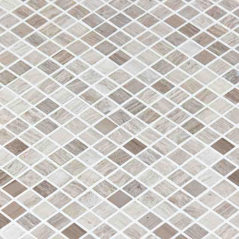 Mosa que marbre astille grise indoor by capri for Carreaux mosaique salle de bain