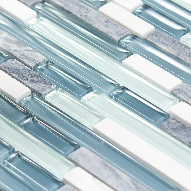 Mosaique Salle De Bain Bleu ~ mosa que marbre et verre ocean line bleue indoor by capri